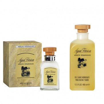 Adolfo Domínguez Lote AGUA FRESCA Gel de baño 400 ml + Aftershave Bálsamo 120 ml