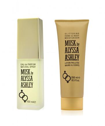 Alyssa Ashley Lote MUSK Eau de toilette Vaporizador 100 ml + Loción corporal y de manos 250 ml